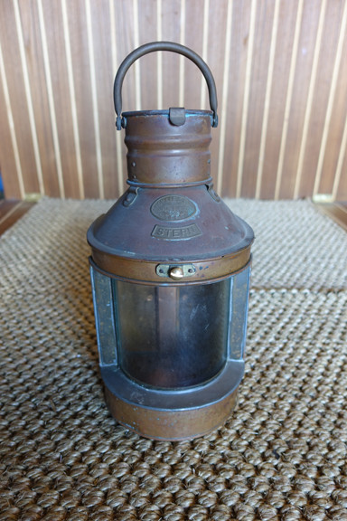 vintage copper nautical ship light