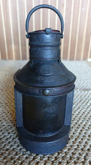 Vintage oil ship's lantern