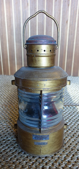 nautical light salvaged from old ship
