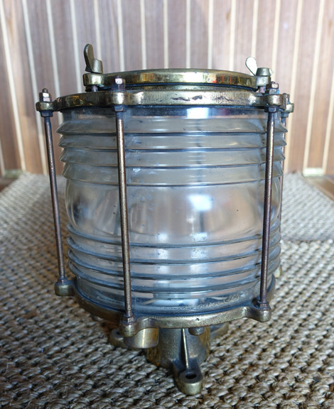 brass nautical dock piling light