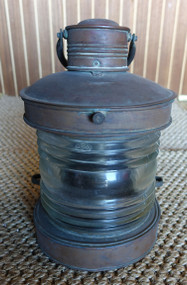 Vintage copper nautical masthead ship's lantern