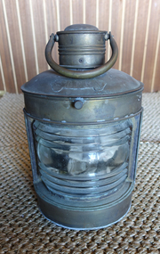 "Brass ""Stern"" wall mount nautical lantern"