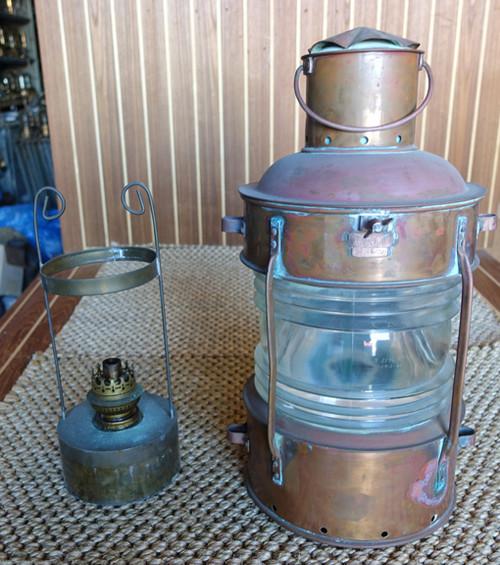 Vintage nautical copper ship light