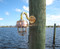 Nautical wave shade dock light