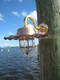 Copper marina dock light