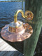 Copper sconce nautical light