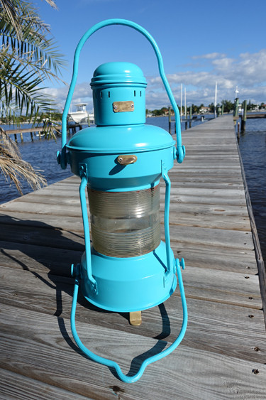 Satin Seaside nautical ship's light
