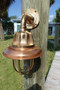 Copper nautical wall light