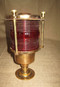 British Red lens pedestal light - you will receive a pair of matching  lights