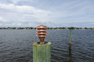 copper marine dock light