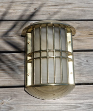 Brass Admiral nautical marine wall sconce