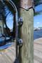 Chrome nautical light mounting feet