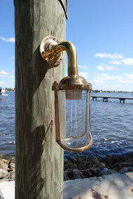Bronze nautical wall sconce slim diver light