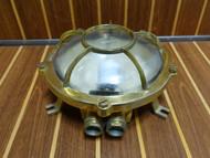 Brass original clamshell marine light