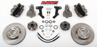 "Chevrolet Malibu 1964-1972 13"" Front Disc Brake Kit & 2"" Drop Spindles; 5x4.75 Bolt Pattern - McGaughys Part# 63237"
