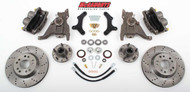 "Pontiac Firebird 1970-1978 13"" Front Cross Drilled Disc Brake Kit & 2"" Drop Spindles; 5x4.75 Bolt Pattern - McGaughys Part# 64078"