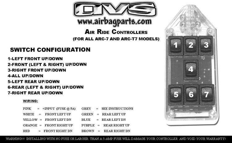 avs black 7 switch box rocker style 3 wire switch diagram airbag switch box wiring diagram #14
