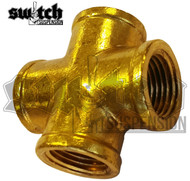 "1/2"" Brass Cross Fitting"