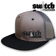 Switch Suspension Gray Mesh and Black Snap Back Trucker Hat
