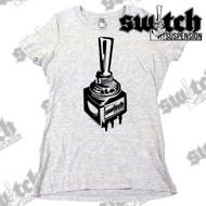 Switch Suspension Ladies Tee Shirt Large Logo Gray / Black