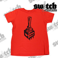 Childrens Switch Suspension Red / Black Short Sleeve T-Shirt - Kids