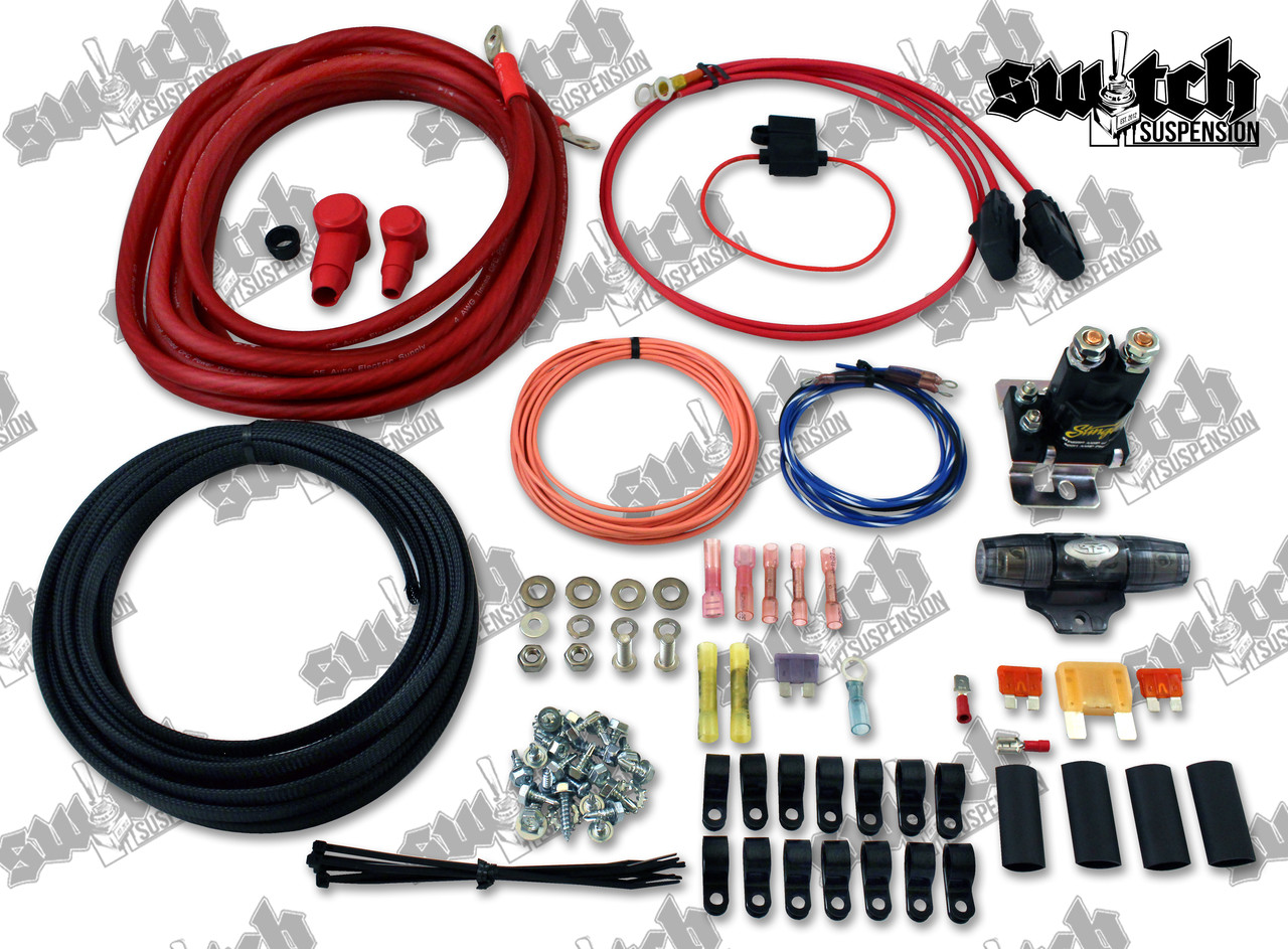 Dual Compressor Wiring Kit; 4 AWG on