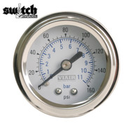 "Viair Single Needle 160 PSI 1.5"" Gauge White Face - 90084"