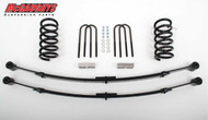 Chevrolet S-10 Extended Cab 1982-2003 2/4 Economy Drop Kit W/Leaf Springs - McGaughys Part# 93111