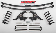 Chevrolet S-10 Standard Cab 1982-2003 4/4 Deluxe Drop Kit W/Leaf Springs - McGaughys Part# 93114