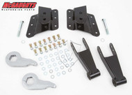 GMC Sierra 2500HD 10 Hole Hanger 2002-2010 2/4 Economy Drop Kit - McGaughys Part# 33076