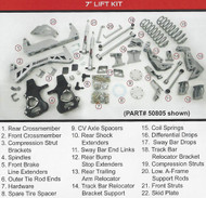 "GMC Denali 2015-2019 7"" McGaughys SS Lift Kit"