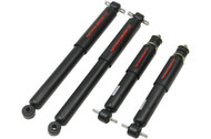 "1988-2000 GM 1500, 2500, 3500 Front Drop 0""-3"" Rear Drop 0""-1"" Belltech ND2 Shock Set"