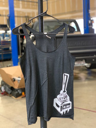 "Ladies ""Big Switch"" Tank Top (Dark Gray/White)"