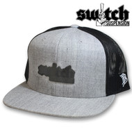 Switch Suspension Leather Patch Heather and Black Trucker Hat