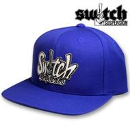 Switch Graffiti Royal Blue Wool Snap Back Hat
