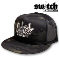 Switch Graffiti Black Camo Mesh Snapback Hat