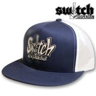 Switch Graffiti Navy / White Mesh Snapback Hat