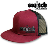 Switch Suspension Maroon and Black Snap Back Trucker Hat