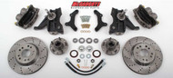 "Chevrolet C-10 1973-1987 13"" Front Cross Drilled Disc Brake Kit W/Drop Spindles; 5x4.75 Bolt Pattern  - McGaughys Part# 33160"