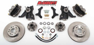 "Chevrolet C-10 1963-1970 13"" Front Disc Brake Kit & 2.5"" Drop Spindles; 5x4.75 Bolt Pattern - McGaughys Part# 63149"