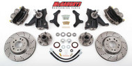 "Chevrolet C-10 1963-1970 13"" Front Cross Drilled Disc Brake Kit & 2.5"" Drop Spindles; 5x4.75 Bolt Pattern - McGaughys Part# 63150"