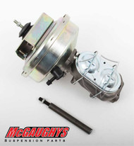 "Chevrolet C-10 1960-1966 9"" Brake Booster With Master Cylinder & Bracket; Front Drum Brakes - McGaughys Part# 63182"
