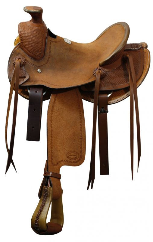 Showman Pony/Youth Roper Style Saddle With Wade Tree 12in