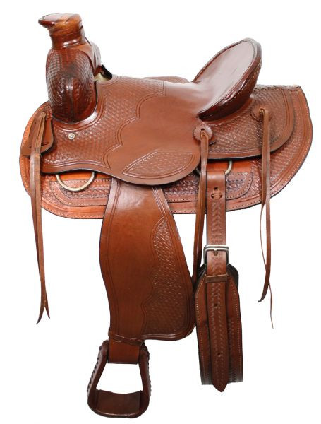 Buffalo Saddlery Wade Style Ranch Saddle 16in  026