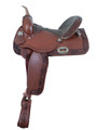 Alamo Saddlery Barrel or Pleasure Saddle with Carved Roses Tooling 1274-ROSE