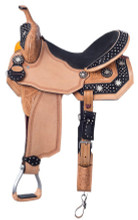 Silvery Royal High Noon Black Barrel Racing Saddle