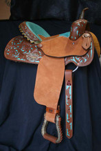 Alamo Saddlery Turquoise Barrel Racing Saddle 1304
