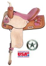 Heart Racer Barrel Saddle by American Saddlery 845H Barrel Racing Saddle