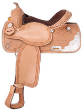 Silver Royal Elite Competition and Trail Barrel Saddle 9SR252 | Western Horse Saddle | Trail Saddles