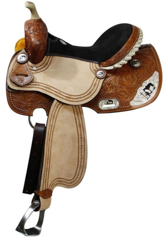 Double T Praying Cowboy Barrel Saddle 14, 15, 16in  6483